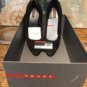 PRADA Suede Pumps ~ Brown ~ Size 40/9